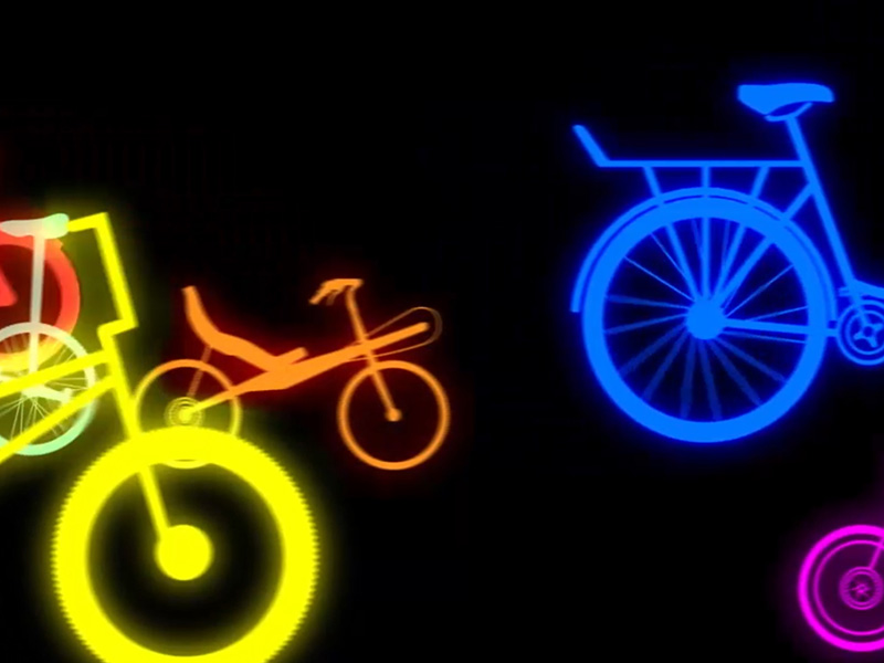Neon bicycles