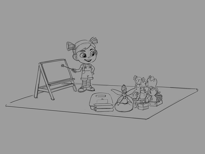 Tilly teaching concept artwork